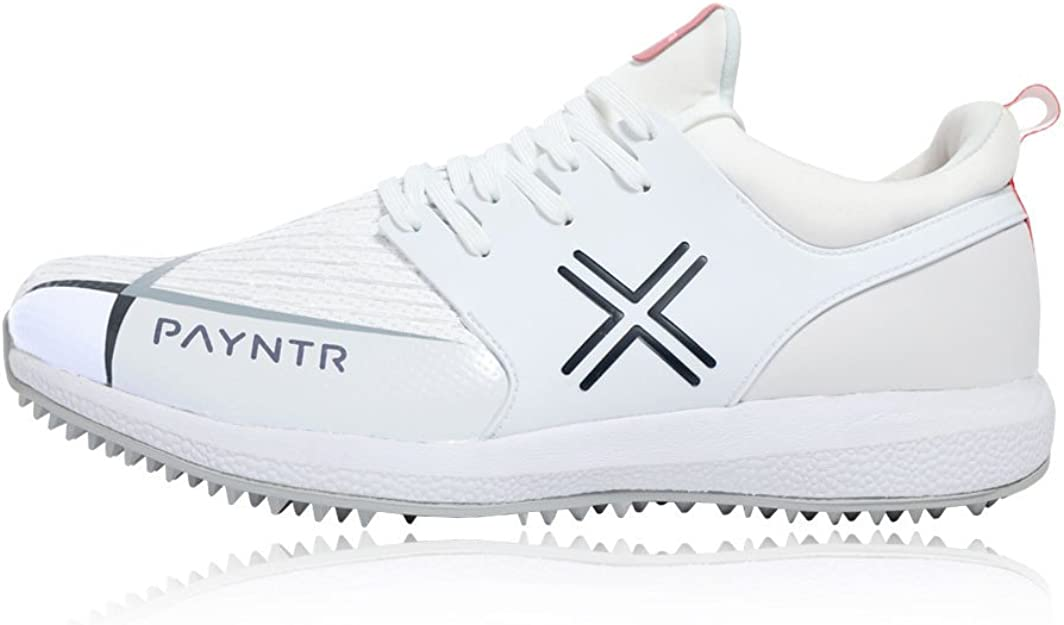 Payntr Junior X MK3 Evo Pimple Cricket Shoes White Sports Breathable Lightweight