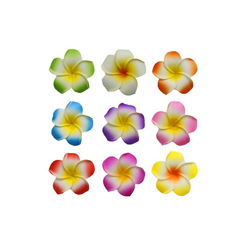 silk flower arrangements fzbnsrko 100 pcs mixed color 2.4 inch hawaiian foam artificial plumeria rubra hawaiian flower petals for wedding party decoration