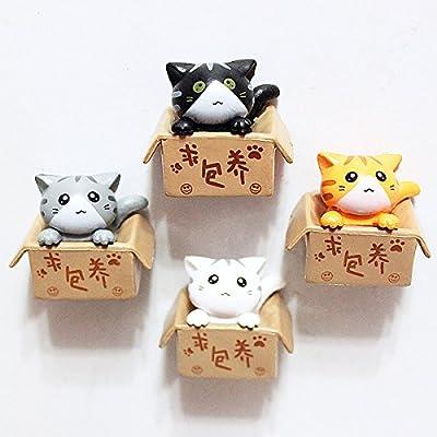 sparik disfrutar (TM) Set de 4 impresionante Animal Gato imanes ...