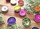 Tealight Candles Assorted Flowers and Colors (30)