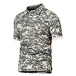 Polo Hommes Militaire Tactique de Combat de Chasse à Manches Courtes Tenu Airsoft Camouflage T-Shirt Tactical Uniforme… 8