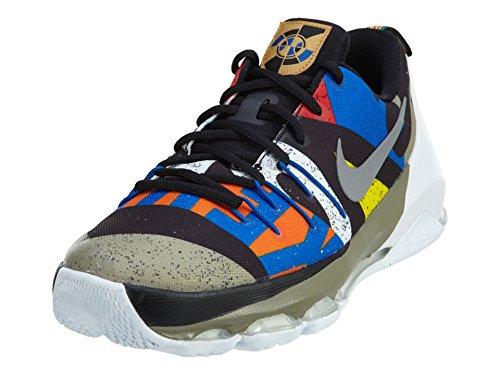 Metallic Multi Footwear (Nike Kid's KD 8 AS (GS), White/Metallic Silver-Black-Multi-color, Youth Size)