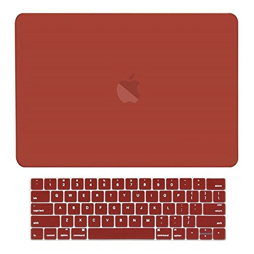 - TOP CASE - 2 in 1 - Rubberized Hard Case + Matching Color Keyboard Cover Compatible with MacBook Pro 15