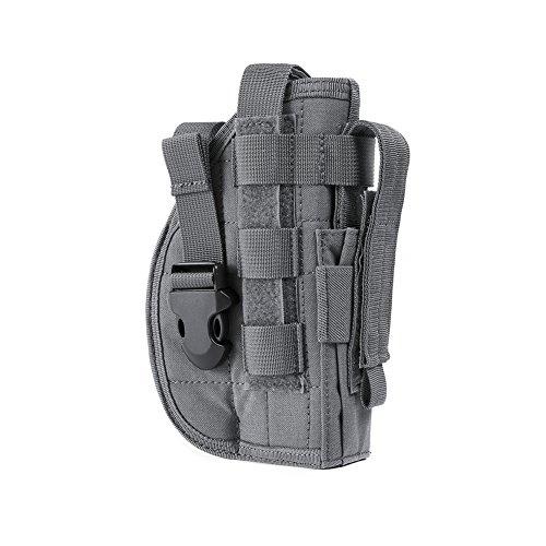 OneTigris Molle Belt Holster for 1911 45 92 96 Glock (Gray)