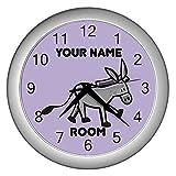 Purple Personalized Donkey Wall Clock