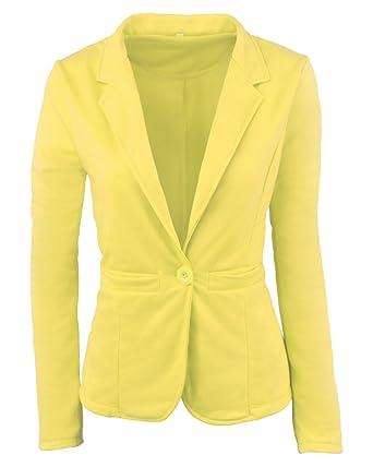 Veste classique jaune femme