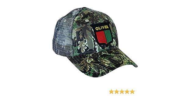 51aeed43 Amazon.com: Oliver Tractor Camouflage Mesh Hat, Vintage Split Shield Logo:  Clothing