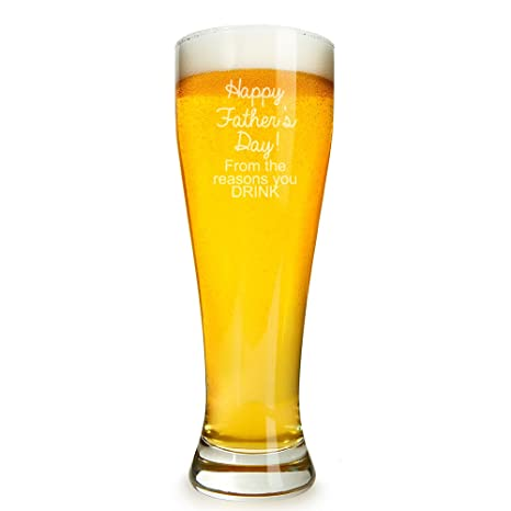 Amazoncom Happy Fathers Day From The Reasons You Drink Engraved
