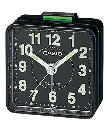 CASIO TQ140 Travel Alarm Clock - Black (Discontinued by Manufacturer) (Casio Travel Alarm)