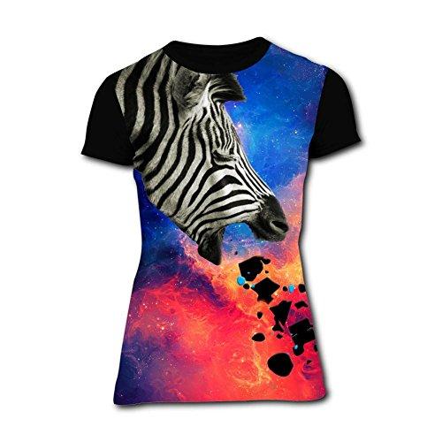 Womens Creative Vomiting Zebra Short-Sleeve T-Shirts Tees XL