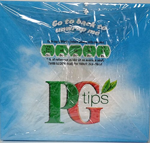PG Tips Pyramid Bags, Black Tea 40 ct (Pack of 6)