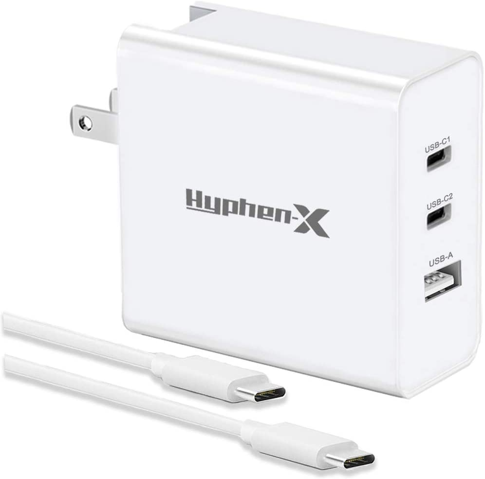 USB C Charger,Hyphenx 65W Fast Charger for MacBook Pro Air, iPhone12 Pro Max Mini, Switch, PD Type C Power Adapter for iPad Pro, iPhone11 Pro Max SE, Galaxy, Pixel Dell XPS and More Include Cable