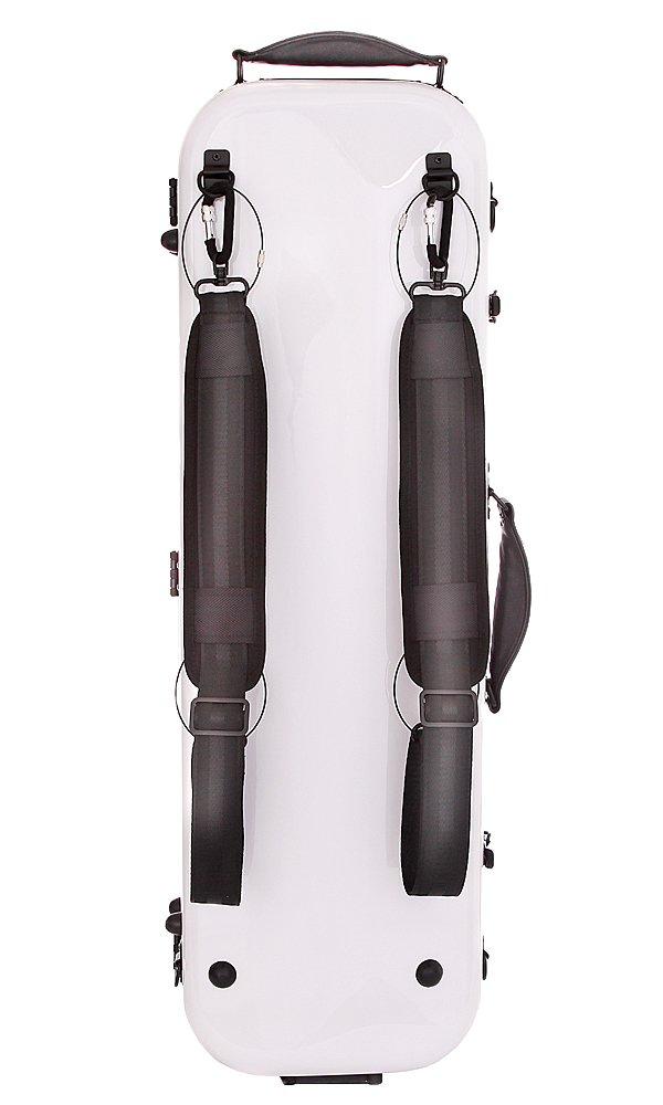 Tonareli Violin Oblong Fiberglass Case- VNFO 1000 White 4/4 by Tonareli Music Supply (Image #5)