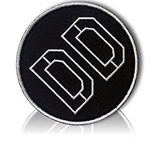 "[Single Count] Custom and Unique (3.5"" Inch) Circular Shaped ""Diamond Dogs"" Anime Cosplay Bold Classic Sable Vibrant Badge Design Iron On Embroidered Iron On Patch {Black & White Colors} {LICENSED}"