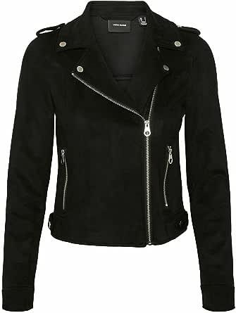 Vero Moda Vmboostbiker Short Fauxsuede Jacket Col Chaqueta de cuero sinttico para Mujer