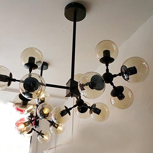 BLYC- Moderne minimalistische Schlafzimmer-Lampe kreative -Deckenleuchte Licht Nordic 21 Zauberbohnen Glas Deckenleuchte