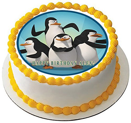 Madagascar pingu Edible Birthday Cake OR Cupcake Topper - 6