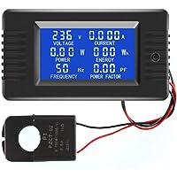 Romacci Medidor de Monitor de Energia com Display Digital AC Voltímetro Amperímetro Medidor de frequência