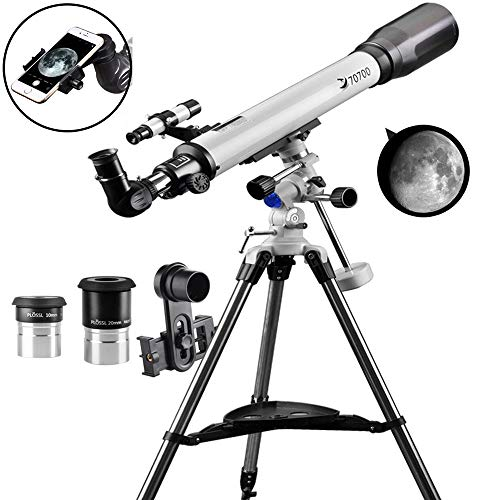 Find Cheap Telescope 70EQ Refractor Telescope Scope - 70mm Aperture and 700mm Focal Length, Multi-La...