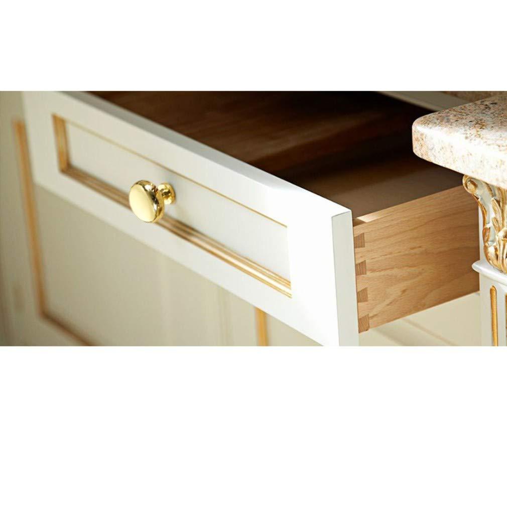 goldfarben Kiste Rzdeal Runder Messingknauf mit 25/mm Durchmesser Schublade schlicht und elegant massiver Knauf f/ür M/öbel T/ürgriff antik Schrank