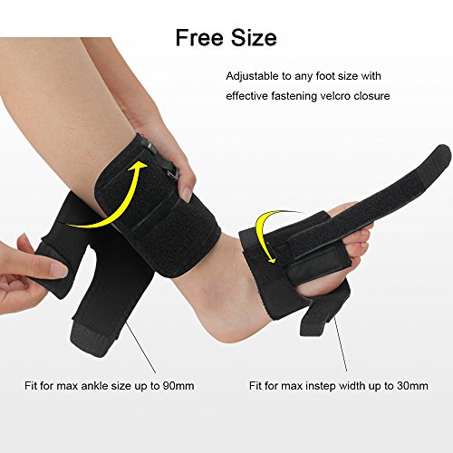 Right or Left Drop Foot Brace,Plantar Fasciitis Splint,Day/Night Dorsal Splint,Foot up Brace Prevent Dragging,Ware Barefoot/Inside Shoes,for Stroke,Achilles Tendonitis,Muscular Distrophy by igoeshopping (Image #4)