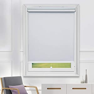 TFSKY Blackout Shades Room Darkening Blinds Cordless UV Protection Roller Blind Blackout Blinds for Bedroom and Indoor Use 31x72, Whtie