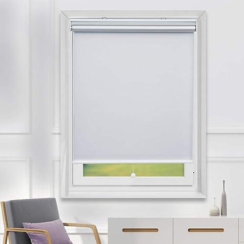 Blackout Shades Room Darkening Blinds Cordless UV Protection Roller Blind Blackout Blind