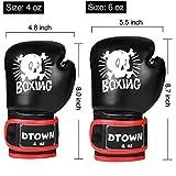 Dtown Kids Boxing Gloves 4oz 6oz Training Gloves