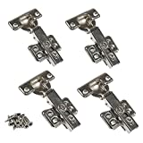 JinHe Stainless Steel Soft Slow Close Cabinet Hinges For Full Overlay Door 2-Pairs