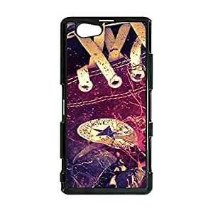 Cool Style Luxury Converse Logo Cover Case for Sony Xperia Z1 Compact Trend Sneaker Series Phone Case