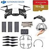 DJI Tello Quadcopter Drone Boost Combo with HD Camera and VR, Comes 3 Batteries, 8 Propellers, Protective Cage, 32GB Mirco SD, Adapter, 14-Core Processor, Coding Education, Throw and Fly