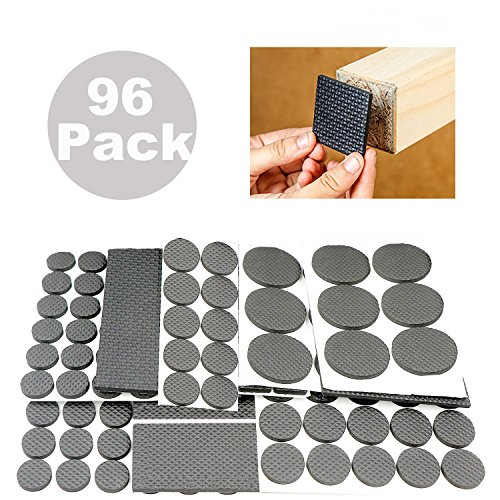 ANDYWE Lightweight Anti Slip Rubber Pads,Heavy Duty Adhesive Furniture Leg  Pads   Soft Floor Protector Without Scratches For Tiled, Laminate, Wood  Flooring, ...