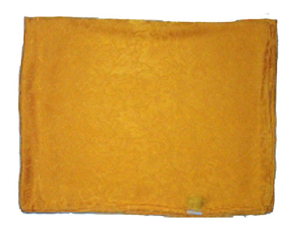 Jacquard Silk Scarf 34.5'' Yellow