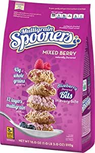 Malt-O-Meal, Mixed Berry Multigrain Spooners Cereal, 18oz Bag (Pack of 4)