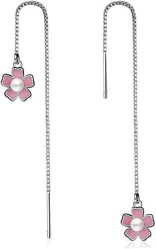 /_ Mujeres Niñas Joyería elegante Rosa Flor Cristal Oreja Aretes último Por ejemplo