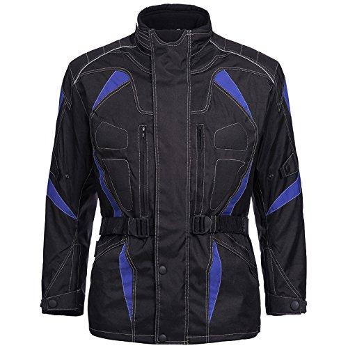Motorradjacke Cordura Textil Roller Quad Biker Touring Schwarz Blau Gr. M L XL XXL 3XL 4XL Neu Limitless (XXL)