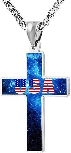 Quensk Lovely Unicorn Cross Necklace Christ Necklace Pendant Cross Prayer Fashion Accessories for Men Women