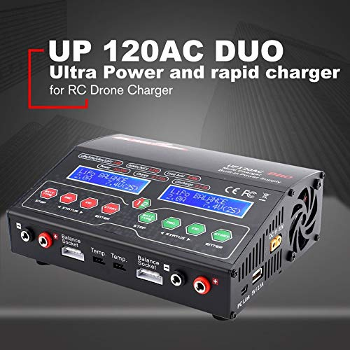 Wikiwand Ultra Power UP120AC Duo Balancing Charger 110V/220V for Lilo/LiPo/Life/LiHV by Wikiwand (Image #3)