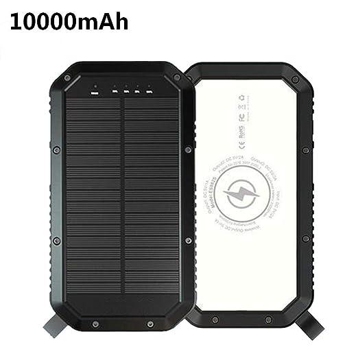 Rlorie Cargador Solar Movil 10000 MAh Mobile Power Camping ...