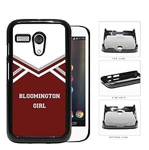 Bloomington City Girl School Spirit Cheerleading Uniform Motorola (Moto G) Hard Snap on Plastic Cell Phone Cover
