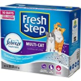 Fresh Step Multi-Cat Scented Litter with the Power of Febreze, Clumping Cat Litter, 20 Pounds