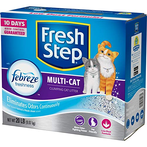 Fresh Step Cat Litter, Multi-Cat with Febreze, 20 Pound