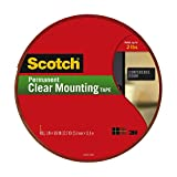 Scotch® Clear Mounting Tape 4010-Long, 1 Inch x 450 Inches - 2 Pack