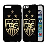img - for Big New Uswnt Black Gold Logo IPhone Case Iphone 7 Case Black Rubber IB book / textbook / text book