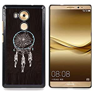 - Dream Catcher Death Skull Indian Spider - - Snap-On Rugged Hard Cover Case Funny HouseFOR Huawei Mate 8