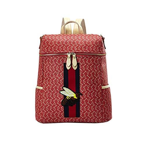 pour bandoulière Taille Backpack à Sac unique PU Student XLF Bag Femme Travel wxB1Cq