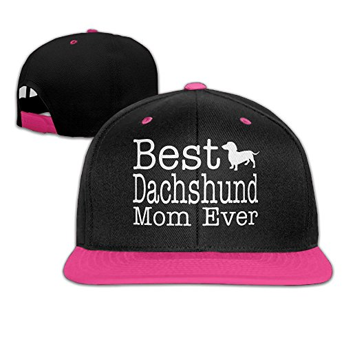 Ftoyou-7 Women Mens Best Dachshund Mom Ever Dog Lover Adjustable Hip-Hop Caps Baseball Cap