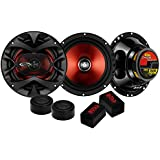 BOSS Audio CH6CK 350 Watt (Per Pair), Component Car Speakers With Two 6.5 Inch Speakers, Two Tweeters and Two Crossovers