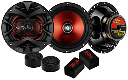Mitsubishi Car Speakers - BOSS Audio CH6CK Component Car Speakers - 350 Watts of Max Power and 175 Watts Per Set, Two 6.5 Inch Speakers/Crossovers/Tweeters, Full Range, 2 Way, Sold in Pairs, Easy Mounting