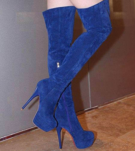 AIYOUMEI Classic Women's Women's Blue Classic Boot AIYOUMEI 7xpww1qa